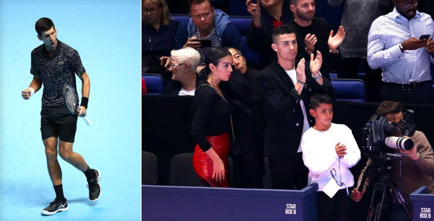 ФОТО: Роналдо го бодреше Ѓоковиќ од трибините