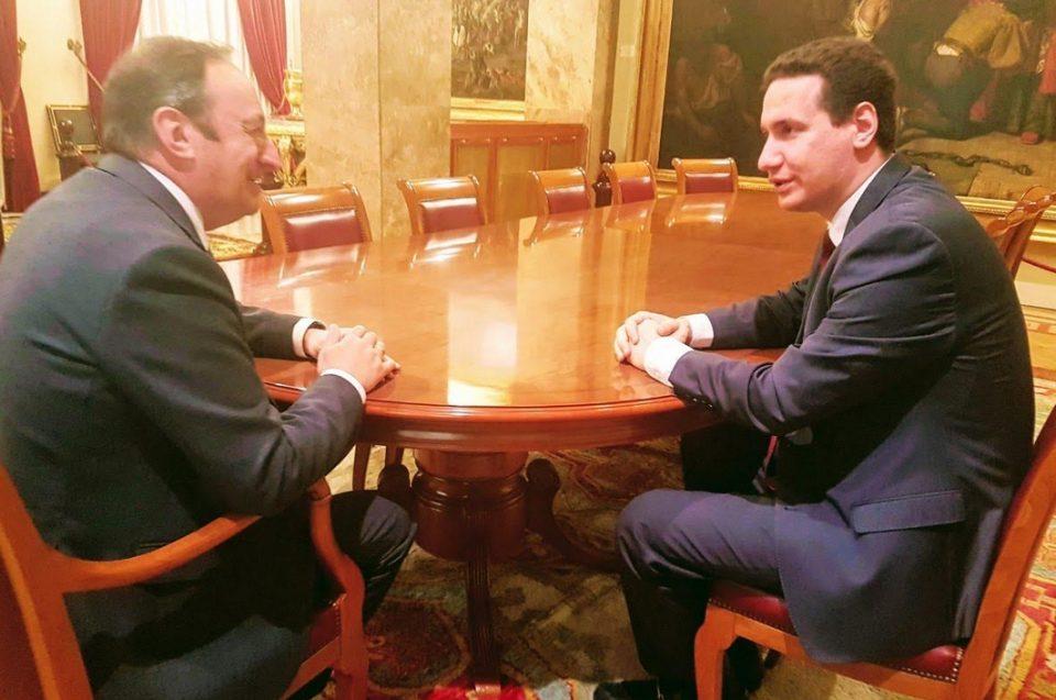 Мадрид: Влатко Ѓорчев се сретна со потпретседателот на Сенатот на Шпанија