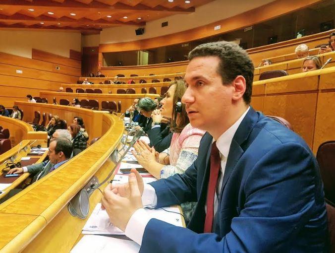Ѓорчев се обрати во Сенатот на Шпанија, на конференцијата настапи под Уставното име Република Македонија