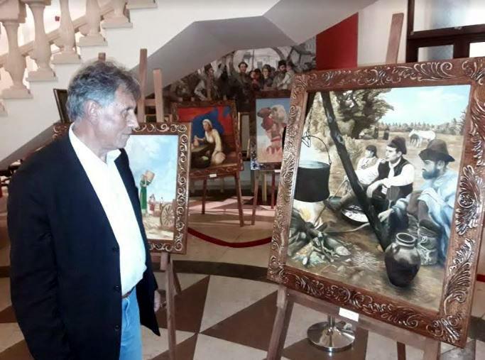 """ФОТО: Отворена изложбата """"Во духовниот храм"""", дела од македонскиот живот"""