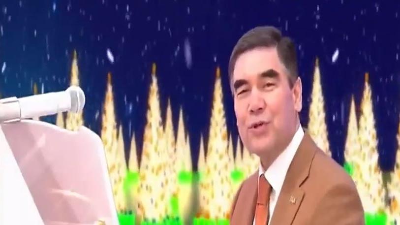Претседателот на Туркменистан компонираше божикна песна (видео)