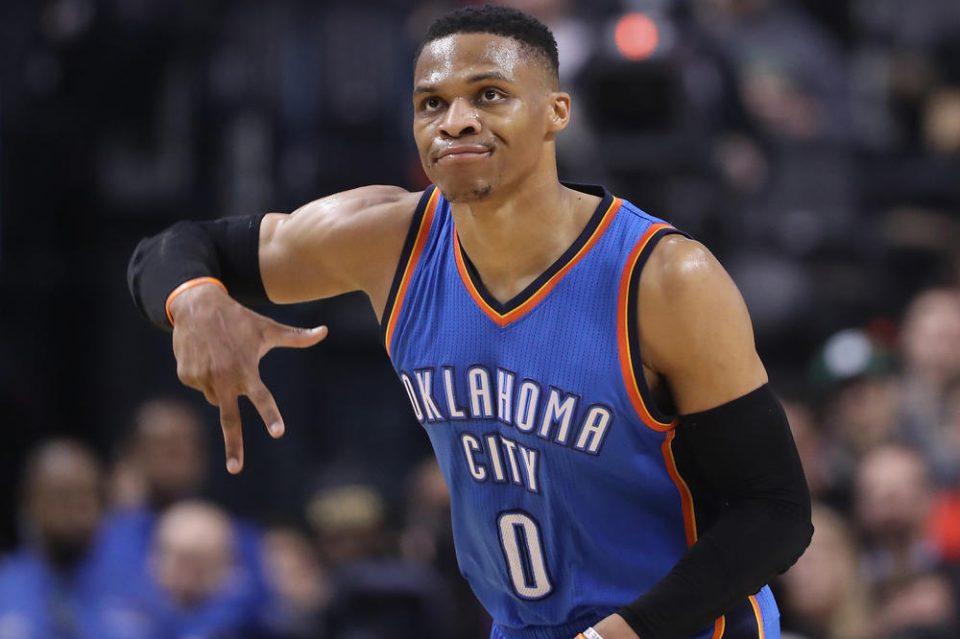 """Вестбрук трет во историјата на НБА во категоријата """"трипл-дабл"""""""