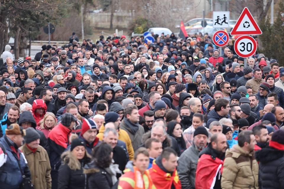 """ВИДЕО ОД ДРОН: Протест на ВМРО-ДПМНЕ во Велес- """"Овој народ ќе ви врати на следните претседателски избори"""""""