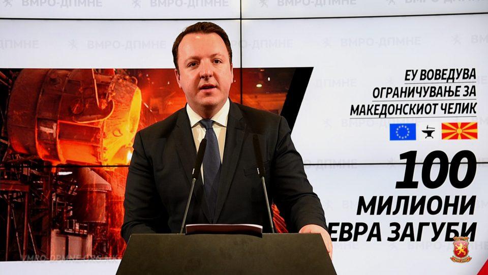 Николоски: Економските мерки на ЕУ на виделина ја исфрла целосната неспособност на Владата на Заев, Димитров, Шекеринска и Анѓушев