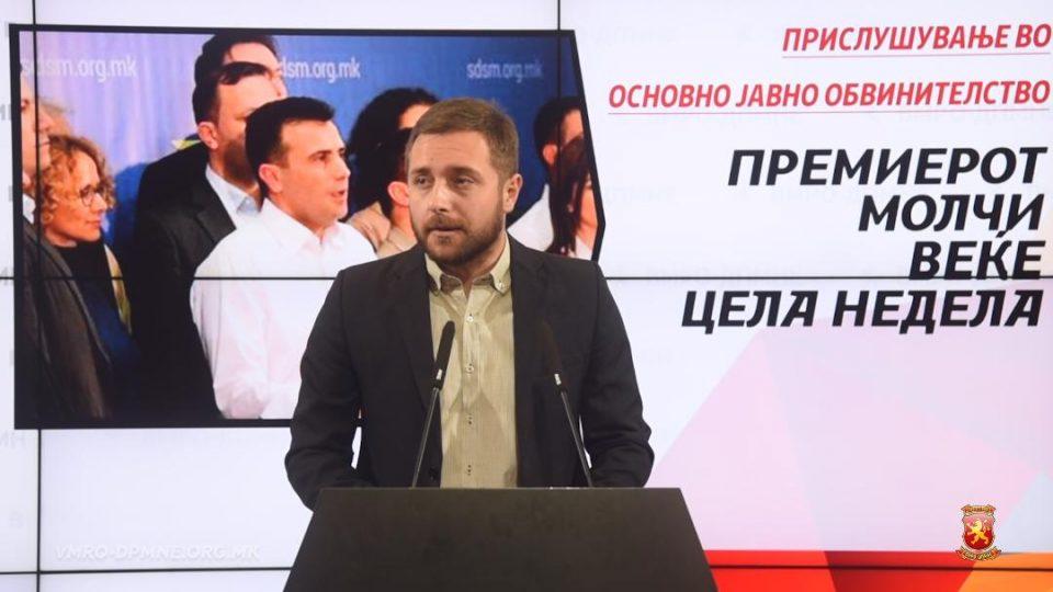 Арсовски: Цела недела СДСМ, Заев и Оливер Спасовски молчат за скандалот за нелегалното прислушување на јавните обвинители и обвинителството