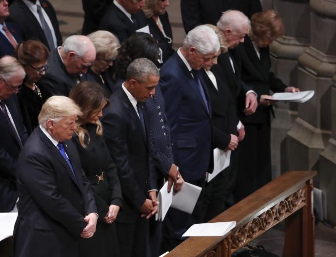 Државен погреб на Џорџ Х.В. Буш, Америка накратко обединета