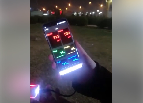 """Еко патрола на ,,Скопје смог аларм"""" измери опасно загадување на воздухот во Лисиче (ВИДЕО)"""