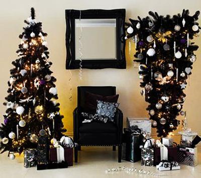 Нов тренд- црни новогодишни елки