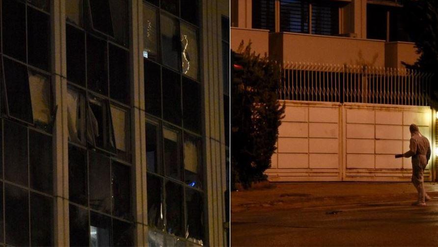 ФОТО: Експлозија на бомба во дворот на грчката телевизија Скај