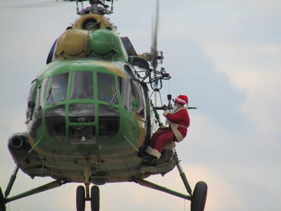 Дедо Мраз ќе пристигне со воен хеликоптер