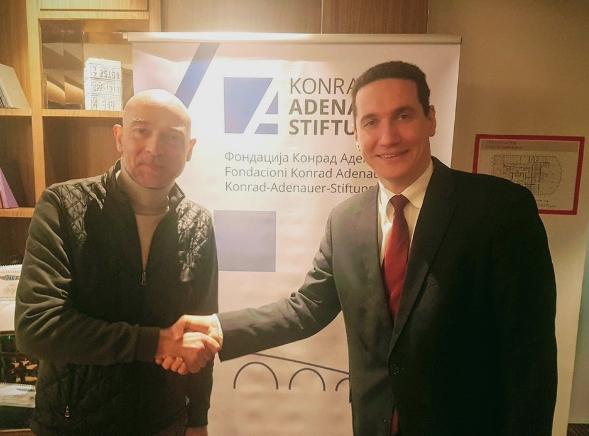 Ѓорчев: Германската фондација Конрад Аденауер и ЦДУ се наши стратешки партнери, ќе ја засилиме соработката