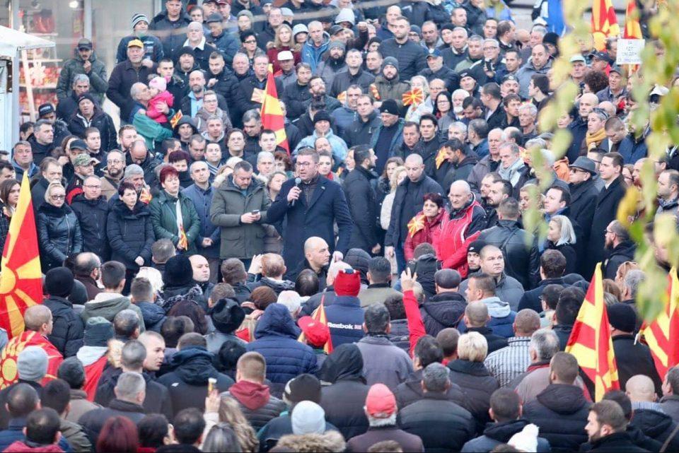 Мицкоски: Против народот никој не успеал да победи, криминалната власт ќе одговара за црнилата и темнината кои ги донесе во Македонија