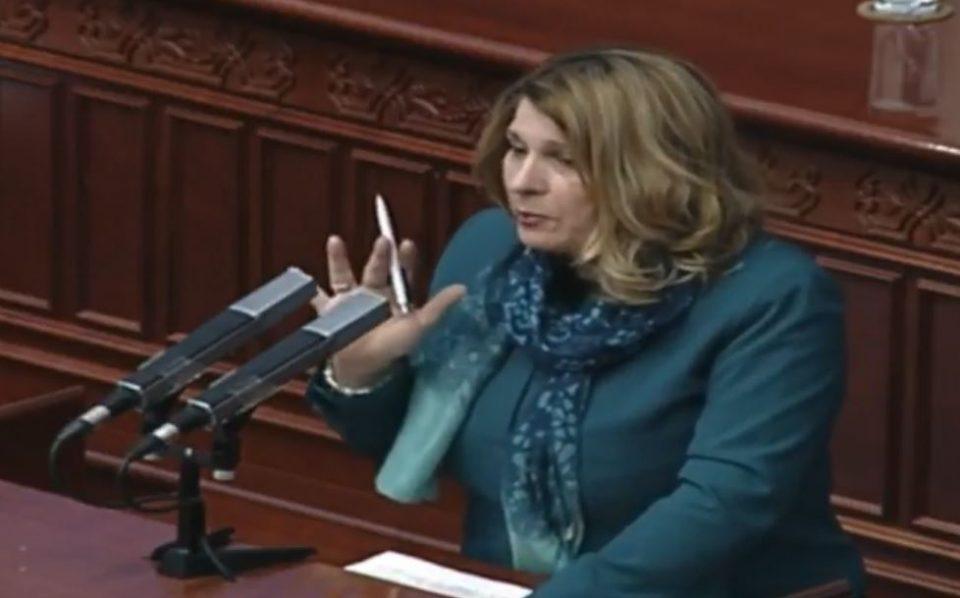 Кузмановска кон СДСМ: Вашата политика е зголемување на даноци и давачки наместо намалување