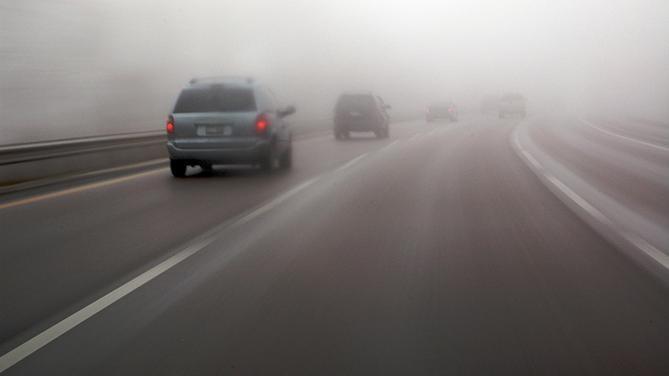 Магла од 50 – 100 метри кај Кичево, Ѓавато и долж повардарие