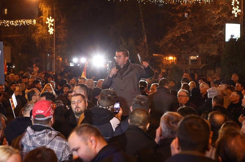 Мицкоски: Ќе протестираме против општествените црнила, противсите неправди и жестоко ќе ги победиме