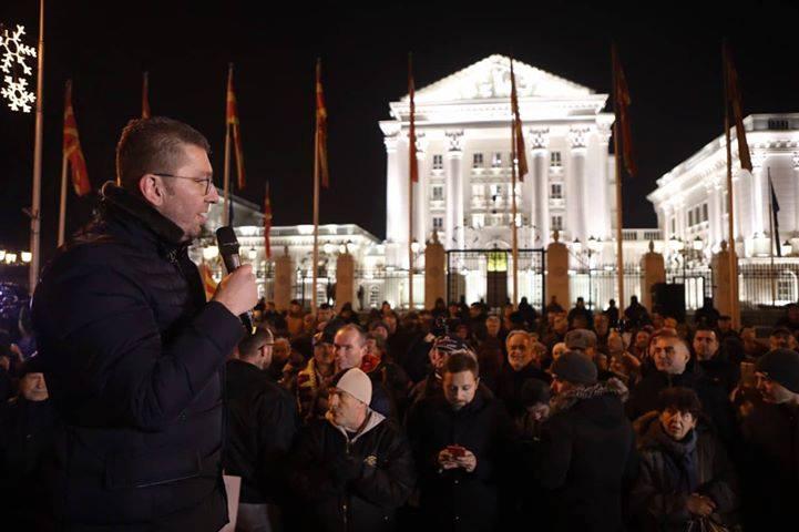 Мицкоски: Во Македонија се е црно, а тие црнила ги донесе Владата, доаѓа нова зора која мора да ги победи црнилата