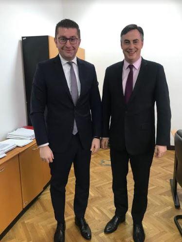 Мицкоски на средба со потпретседателот на ЕПП, Дејвид Мекалистер