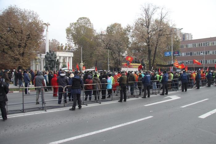 Протест пред Собранието против уставните измени