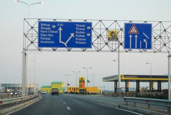 Во прекин сообраќајот на патот Скопје – Приштина