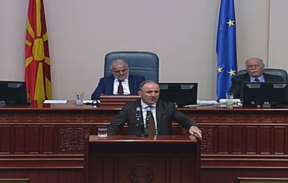 Димков: Овој процес денес во Собранието не е легитимен затоа што народот јасно кажа дека не ја прифаќа спогодбата