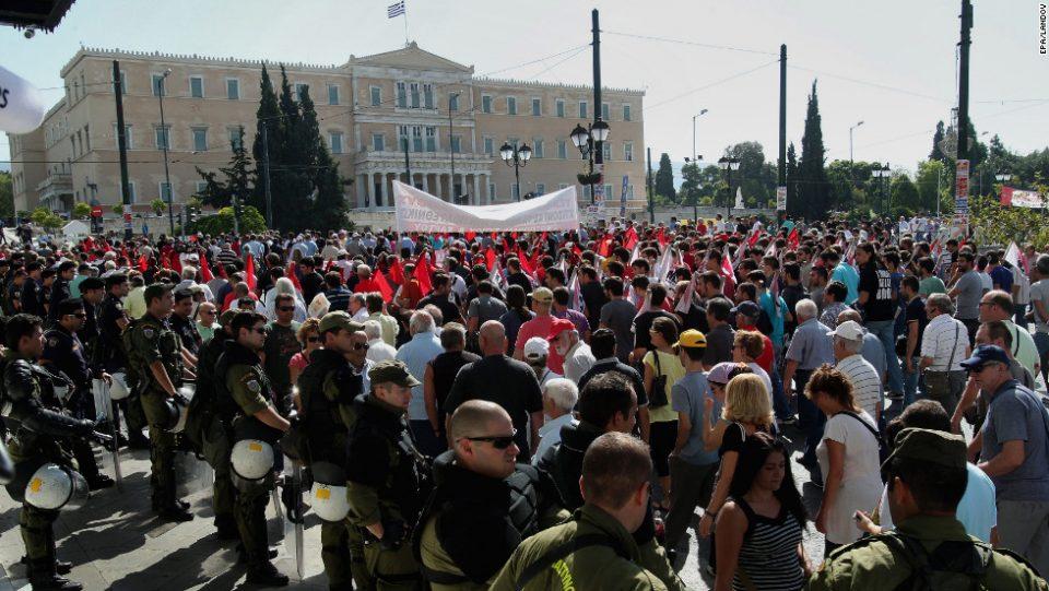 Штрајк на вработените во јавниот сектор во Грција