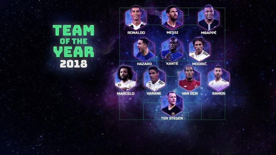 Прогласен Тимот на годината на УЕФА, Реал Мадрид со најмногу претставници