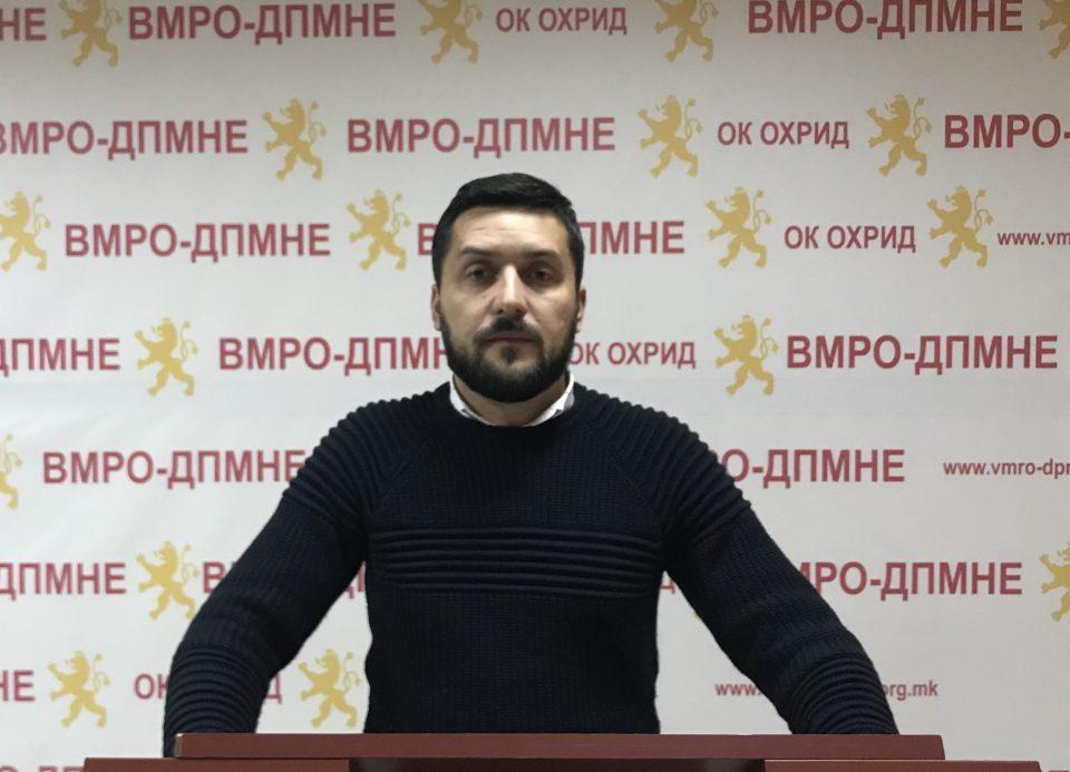 ВМРО-ДПМНЕ Охрид: Катастрофална е состојбата со зимското одржување и отстранувањето на снегот, Георгиески да се зафати со работа