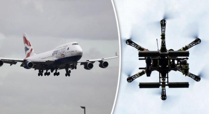 Лондонските аеродроми нарачаа воена опрема за заштита од дронови