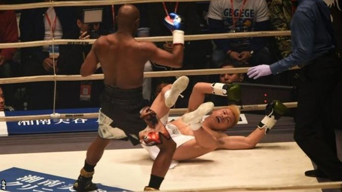 ВИДЕО: Мејведер го нокаутираше Насукава во првата рунда