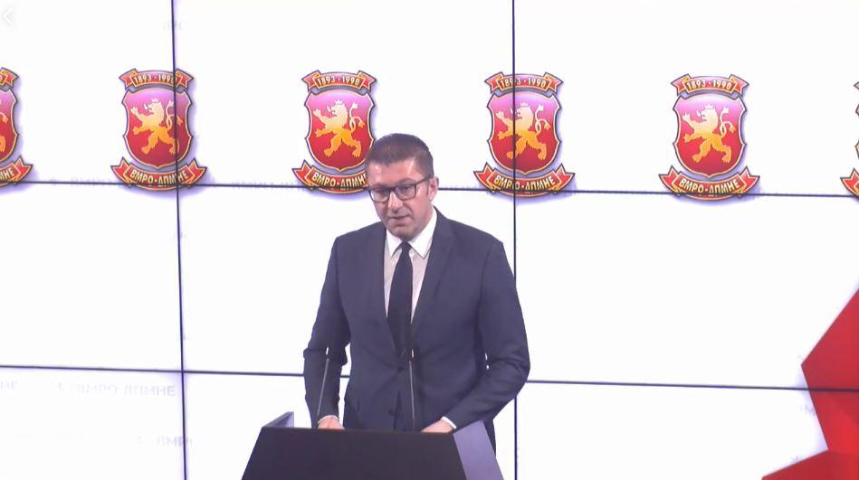 Мицкоски до Заев и СДСМ: Излезете на избори- Тоа не се избори за фотелји, тоа се избори каде ќе победи народот за да победи достоинствена Македонија