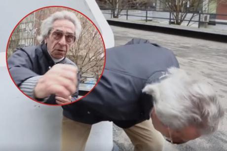 Пензионерот кој го освои регионот со ново легендарно видео во кое покажува како вежба (ХИТ ВИДЕО)