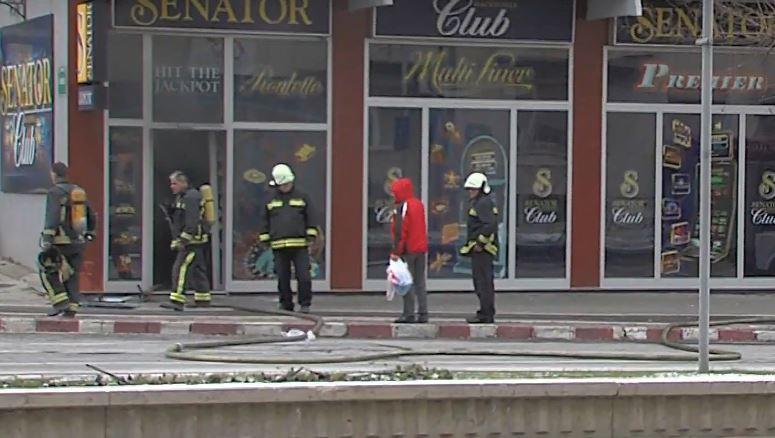 ФОТО: Пожар во казино во Центар