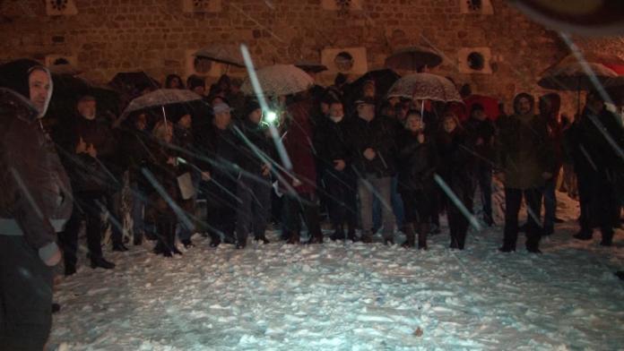 Прилепчани со мирен протест за поддршка на Jане Ченто (ВИДЕО)