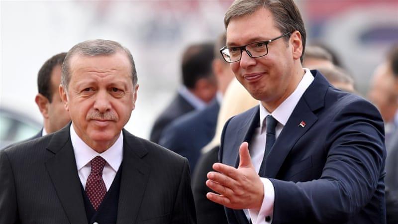 Телефонски разговор на Вучиќ и Ердоган за унапредување на односите