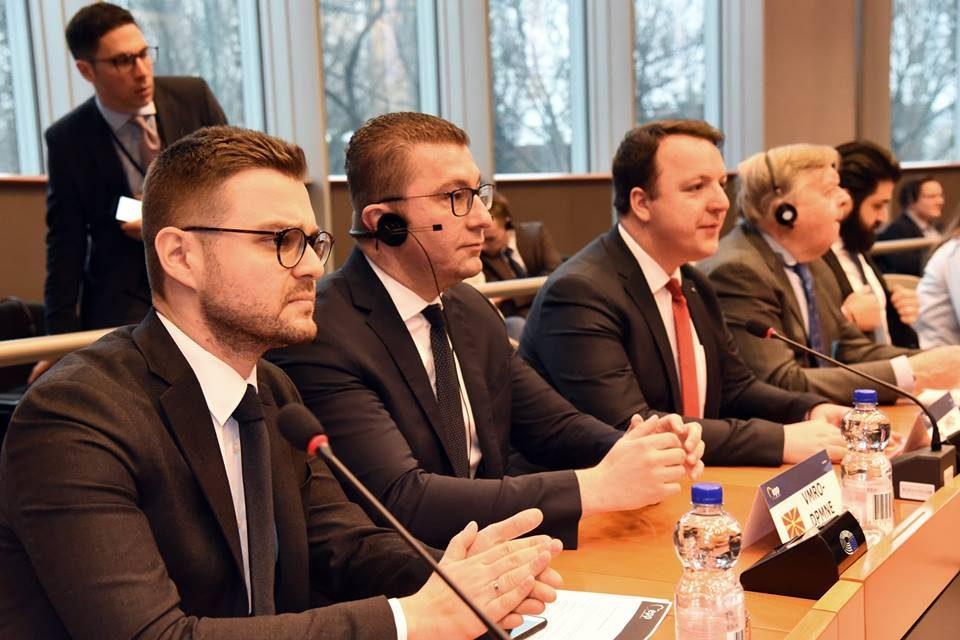 Мицкоски од Брисел: Република Македонија повеќе не е правна држава, се тргува со правото за реализирање на политички амбиции