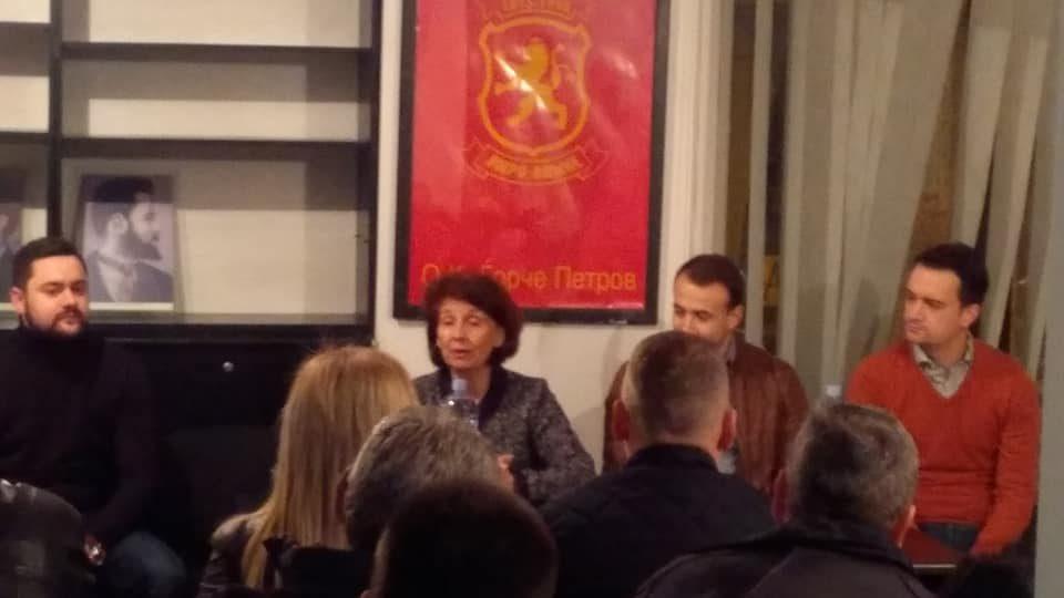 Силјановска од Ѓорче Петров ја почна внатрепартиската кампања за претседателски кандидат на ВМРО-ДПМНЕ