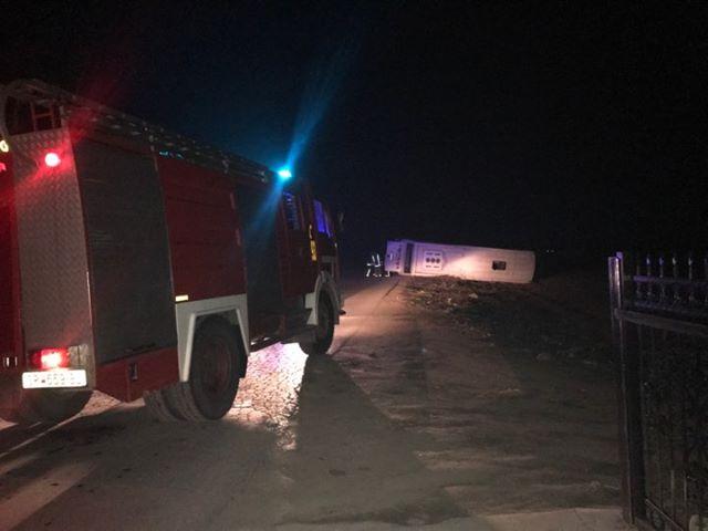 Детали за несреќата кај Струмица: Автобусот излетал од патот и се превртел, возачот во болница
