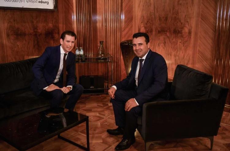Заев- Курц: Австрија е и останува голем пријател