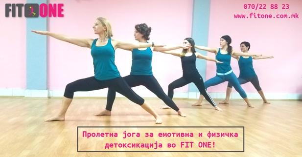 Пролетна Јога за емотивно и физичко прочистување и детоксикација во Fit One
