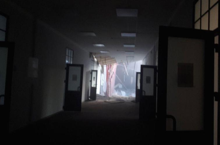 Се урна дел од зграда на универзитет: Спасени сите студенти и професори