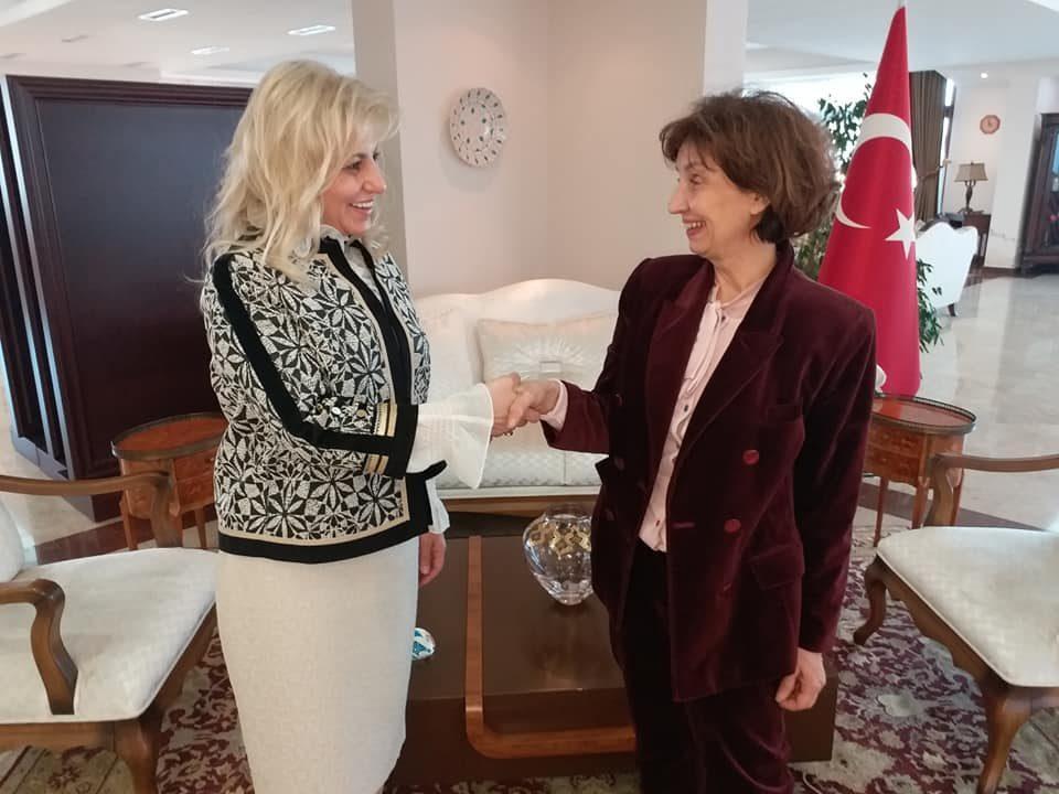 Силјановска се сретна со амбасадорката на Турција Еркал Кара