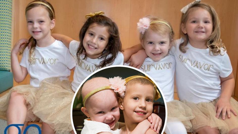 Четири девојчиња се лечеле од рак и заедно го победиле