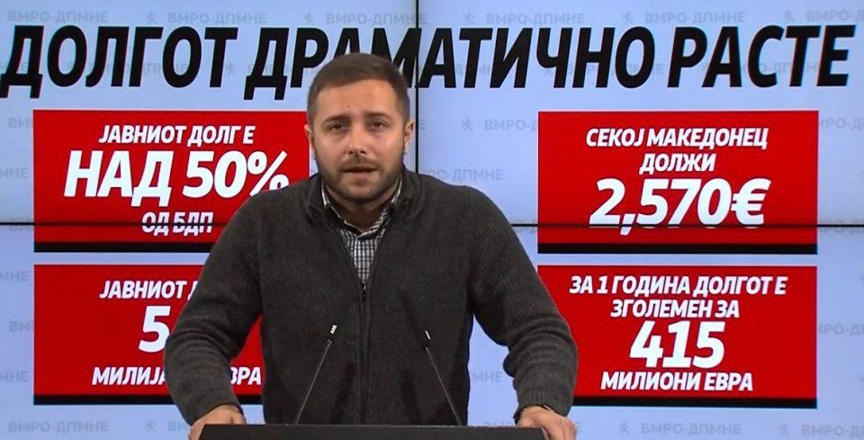 Арсовски: Македонија драматично се задолжува, а за тоа предупредуваат сите домашни и странски експерти како и ММФ
