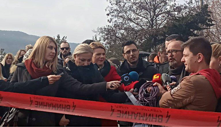 """Еко активистите на протест побараа поголема контрола на """"Дрисла"""" (ФОТО)"""