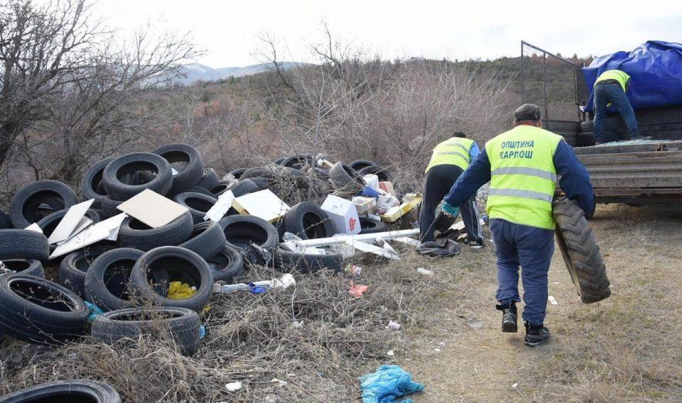 Расчистена депонијата во Карпош од гуми за греење