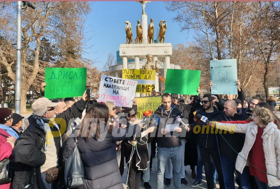 Граѓаните бараат мерки од владата против загадувањето: Дишеме отров!