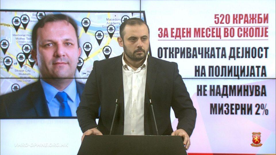 Ѓорѓиевски: Криминалци ги владеат улиците во Скопје, а Оливер Спасовски ја парализира полицијата оставајќи простор за беззаконие