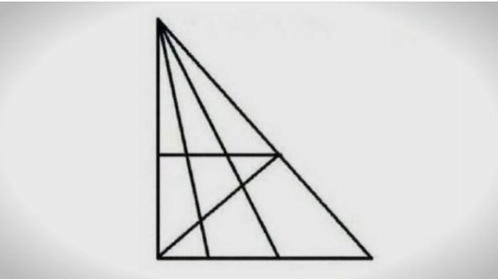 Колку триаголници гледате на фотографијата: Ако изброите точно, вие сте натпросечно интелигентни (ФОТО)