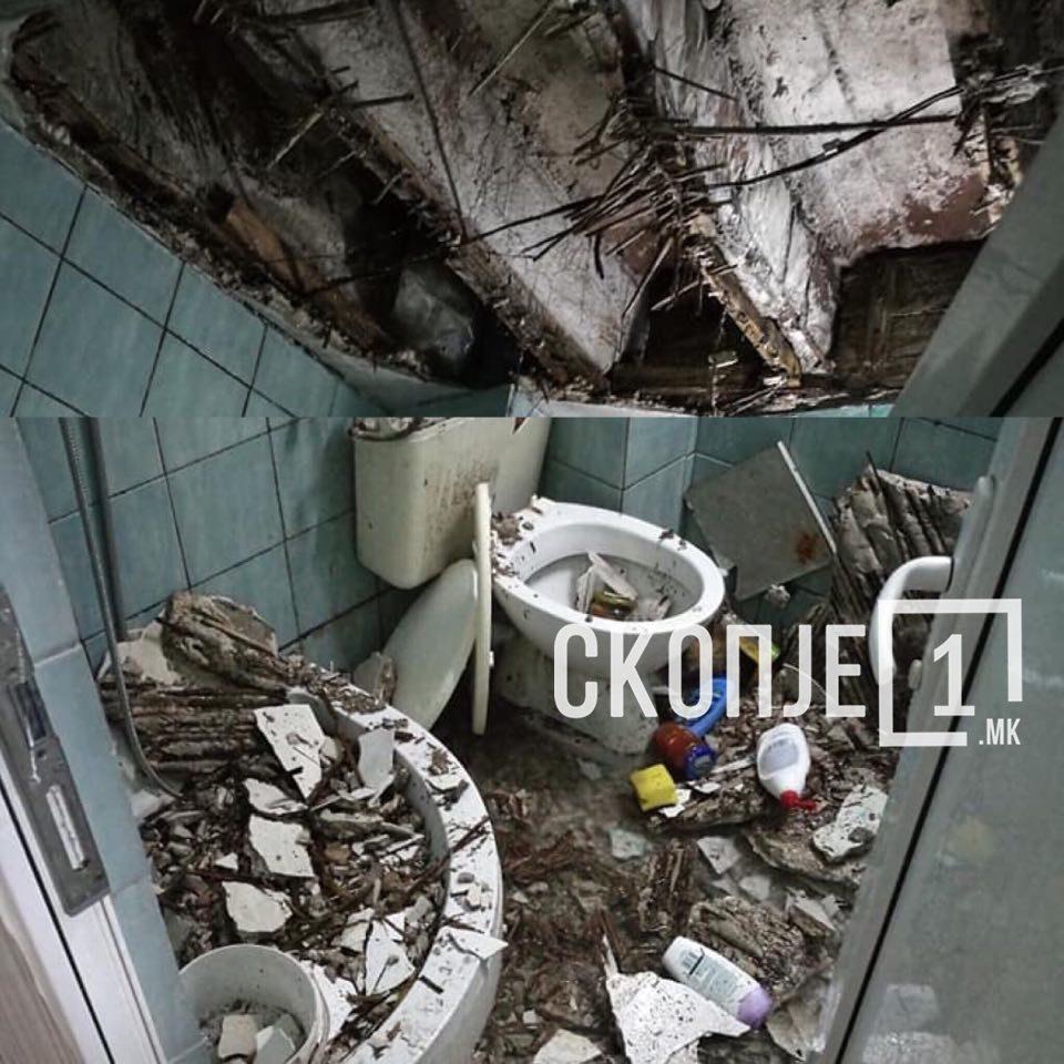 ВИДЕО: Падна кров на тоалет во скопски студентски дом, студентите исплашени и револтирани од негрижата на властите