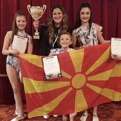 """Балетското студио """"АРТ Балет"""" од Македонија се закити со 3 први места, едно 2 место и едно 3 место на Светското првенство во танц"""